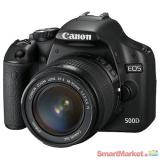 Used Canon EOS 500D DSLR Camera with Lens Kit (EF-S 18-55mm)