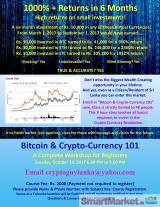 Workshop: Bitcoin And Crypto Currency 101