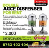 Ice Cooled Double Juice Dispenser for Rent.