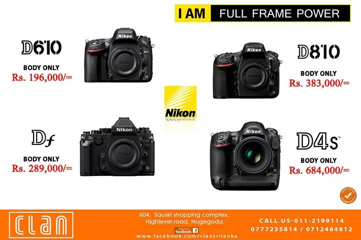 Nikon Full Frame With One Year Warranty