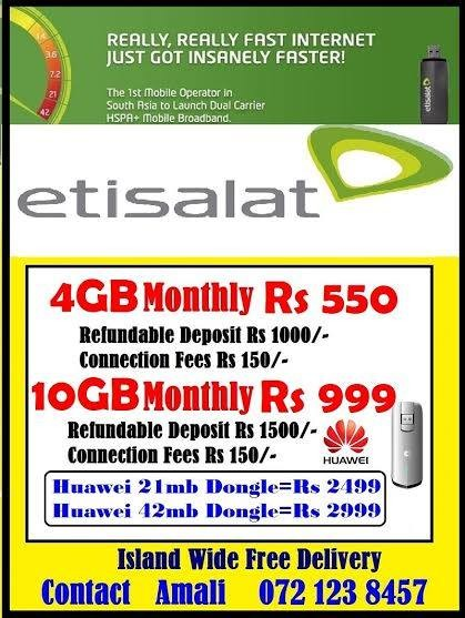 Etisalat Data Packages