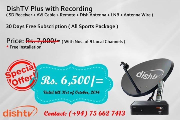Brand New Videocon D2H Hd & 3D Satellite Tv Connection