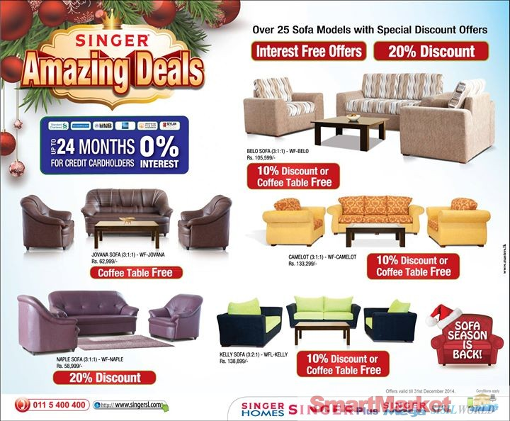 Sofa Season Is On At Singer