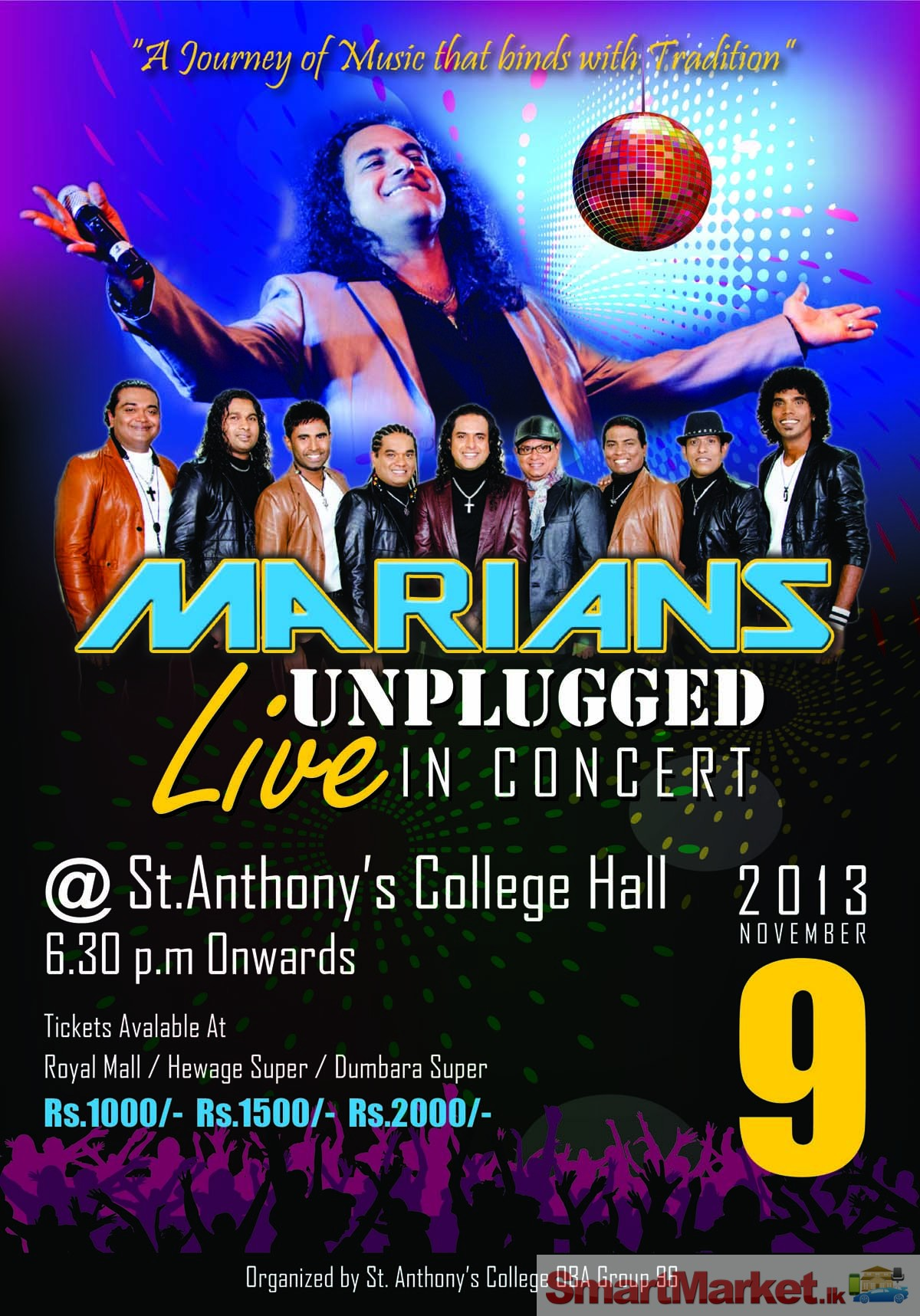 Details : MARIANS UNPLUGGED LIVE IN CONCERT .