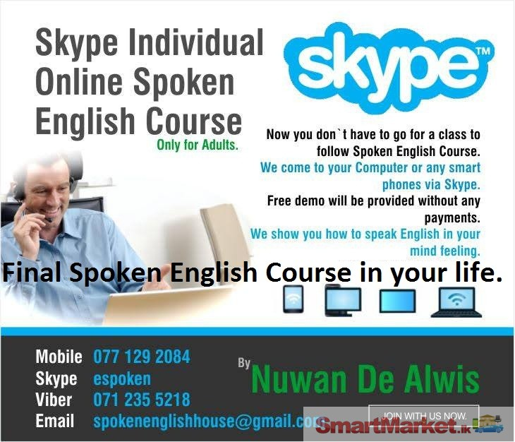 Spoken English Course For Adults Skype