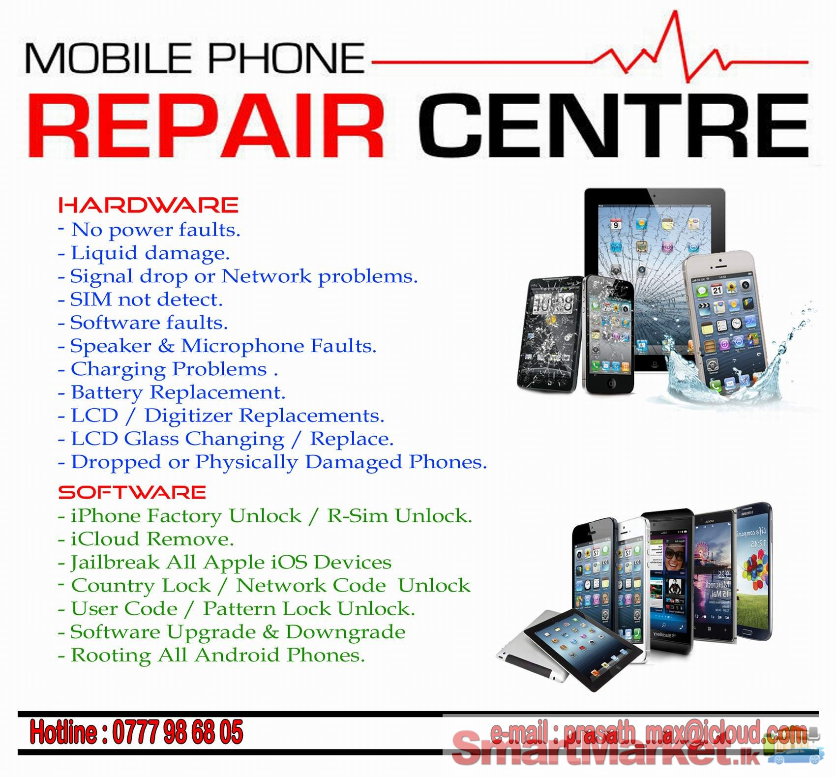 Mobile Phone Repairing and Unlocking