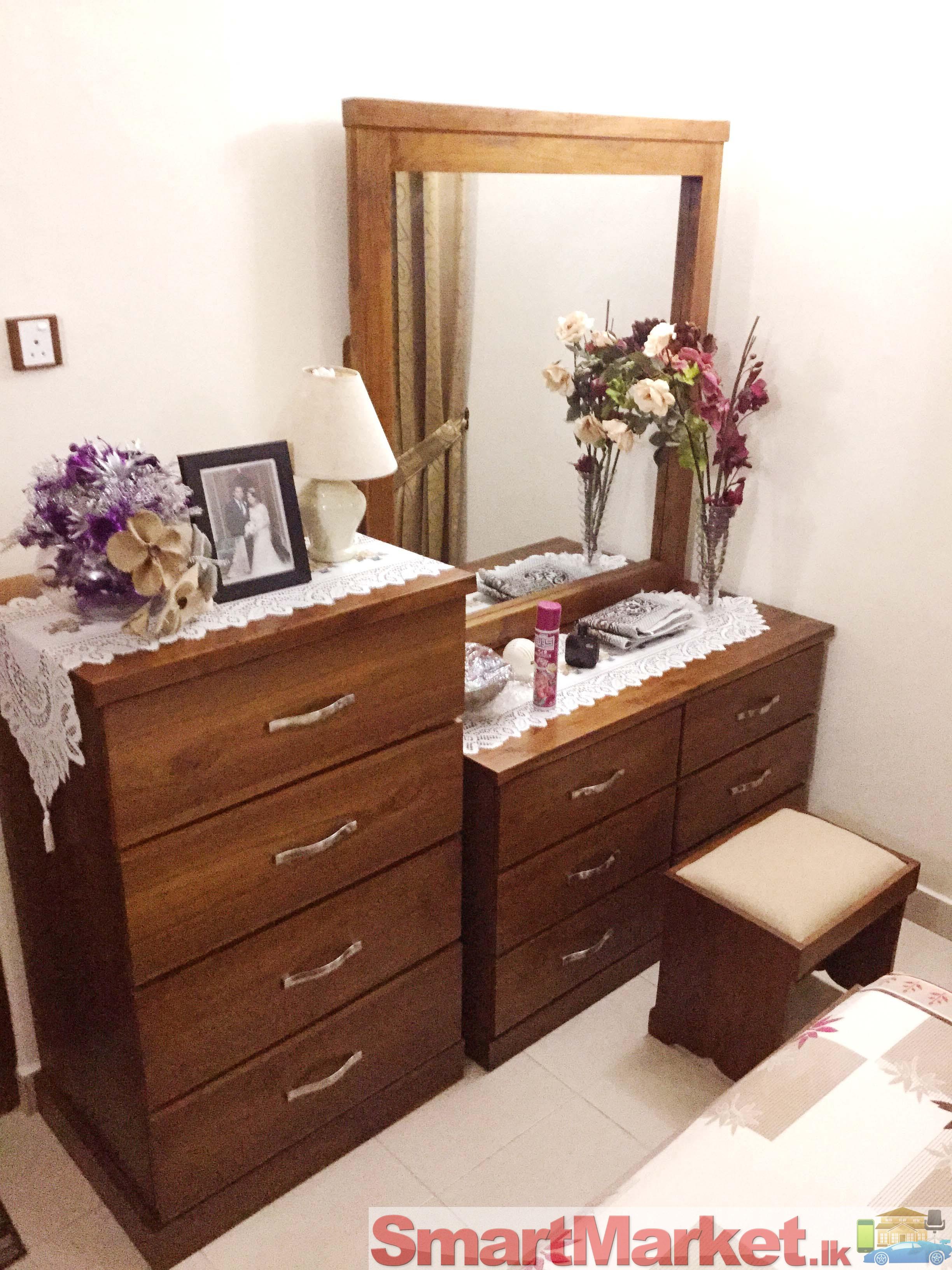 Complete bed room set teak - Deco bed kind ...