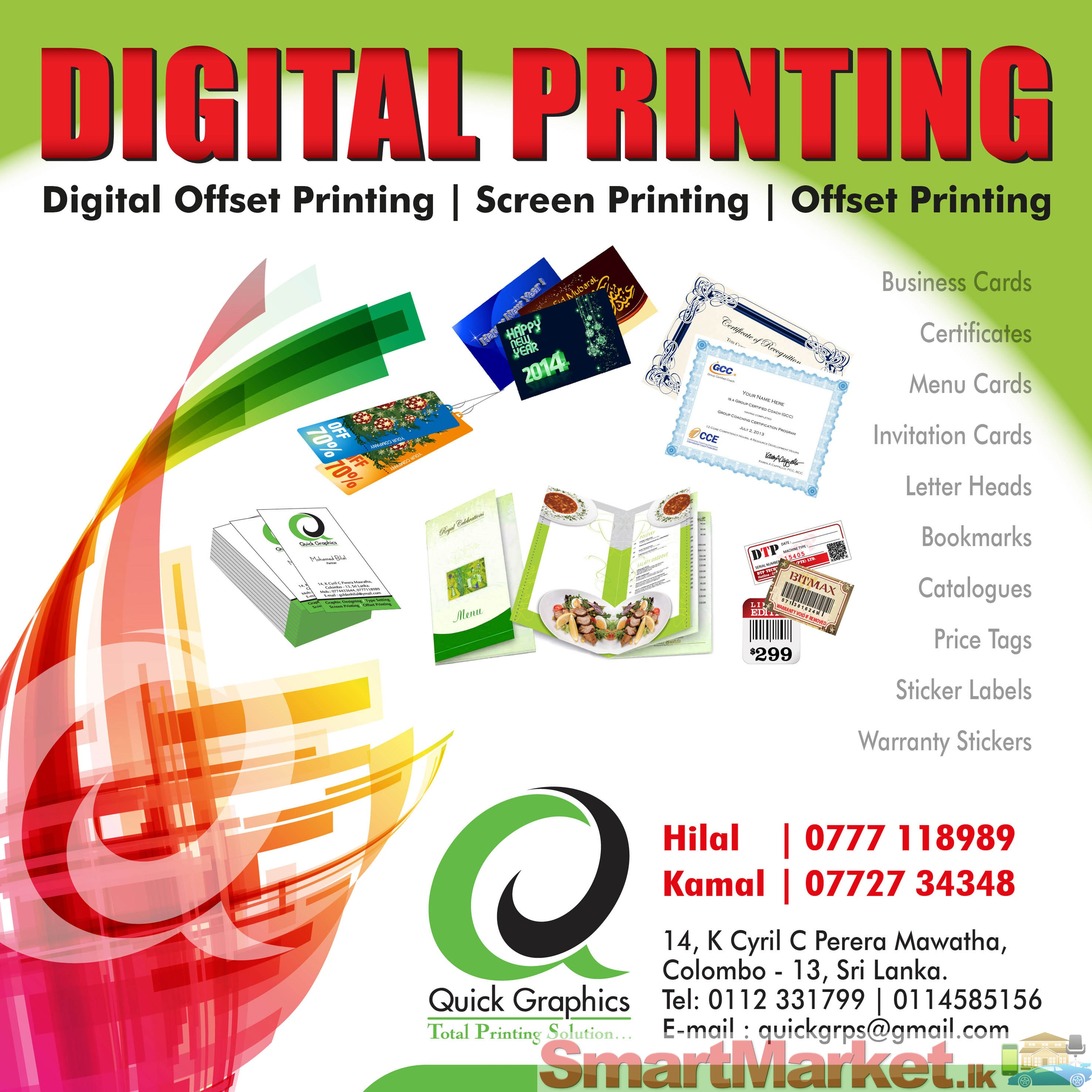 Digital printing offered in colombo smartmarket loading zoom reheart Choice Image
