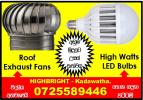 LED Bulbs, wind turbine roof fans srilanka, roof Exhaust fans srilanka,