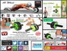 BRAKED AB EXERCISE WHEEL